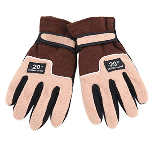 Unisex Soft Winter Warmer Windproof Full Finger Glove Riding Ski Gloves Snow Snowboard Skiing
