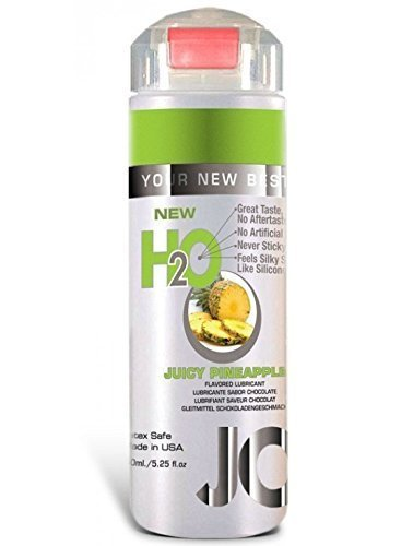 System Jo New H2o JUICY PINEAPPLE Flavored Water Based Lubricant (Super Long Lasting, Never Sticky or Tacky, 100% Latex Safe) : Size 5.25 Fl. Oz / 150ml