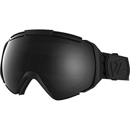 VonZipper Adult El Kabong Asian Fit Snow Goggles Eyewear, Black Satin / Black Chrome, One Size Fits - Kabong Goggles El