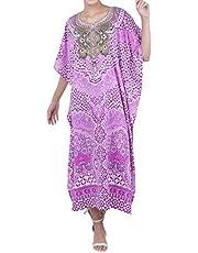 Miss Lavish London Tunic Plus Size Maxi Dress Embellished Kimonos [K131/K134]