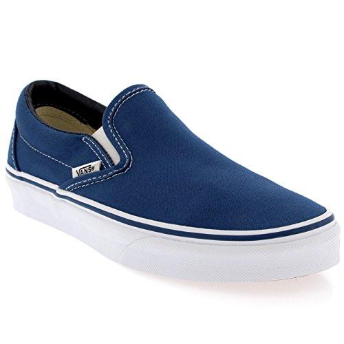 Womens Vans Classic Slip Canvas Slip On Sneakers Shoe Casual Plimsolls - Navy - 8.5