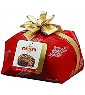Bonifanti - Panettone artesanal tradicional con glaseado de almendras y avellanas 1kg