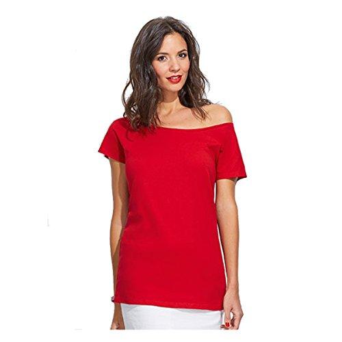 Mujer Oversizelook camiseta - rojo Rojo