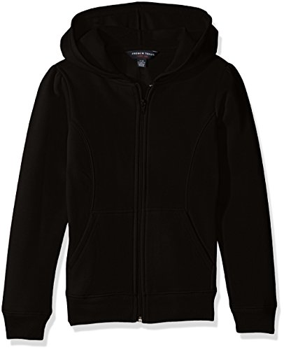 French Toast Girls' Big Fleece Hoodie, Black, M (7/8) by French Toast (Image #1)