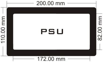 Black Frame//Black Mesh PSU DEMCiflex Dust Filter for Corsair 760T