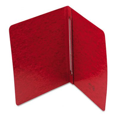 Pressboard Side Opening Cover, Prong Clip, Letter, 3'' Capacity, Red [Set of 3]