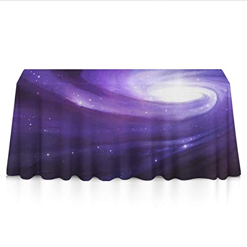 Stain Resistant Waterproof Rectangular Table Cloth - Galaxy Nebula Table Art, Square Or Round Tables Table Cloths for Outdoor Party Dinner Parties]()