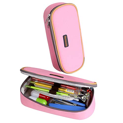 Pencil Case, Homecube Big Capacity Pen Bag Makeup Pouch Durable Students Stationery with Double Zipper, -