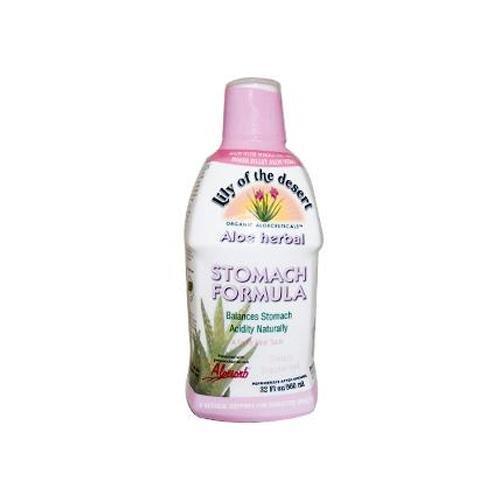 2 Packs of Lily Of The Desert Aloe Herbal Stomach Formula Fresh Mint - 32 Fl Oz Herbal Aloe Stomach
