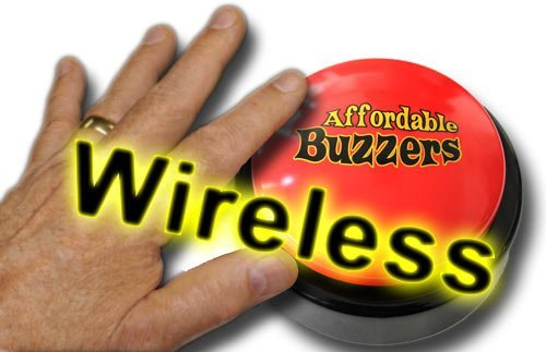 (Affordable Buzzers Wireless BIG DADDY Tabletop Quiz Game Buzzer with free quiz game software)