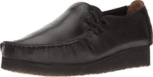 Clarks Leather Tie - CLARKS New Women's Lugger Slip On Black Smooth 6