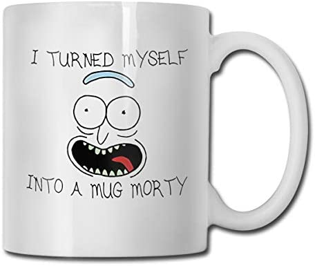 antspuent I Turned Myself Into A Mug Morty Funny Coffee Mug - 11 Ceramic Coffee Cup - Best Gifts Idea for Christmas, Valentine and Birthday, Father's Day and Mother's Day Cup