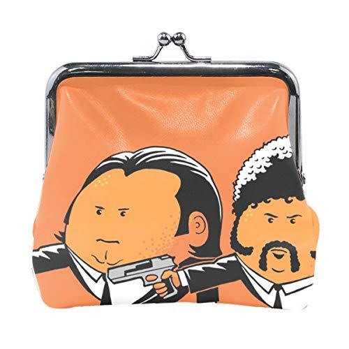 Women Pulp Fiction John Travolta Vincent Vega Samuel L Jackson Jules Winnfield Print Wallet Exquisite Clasp Coin Purse Girls Clutch Handbag