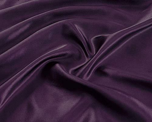Dark Purple Satin - Linen Plus King Size 4pc Satin Sheet Set Soft Silk Cozy Solid Purple New
