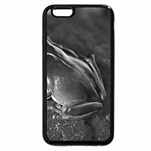 iPhone 6S Case, iPhone 6 Case (Black & White) - CUTE FROG ON RED