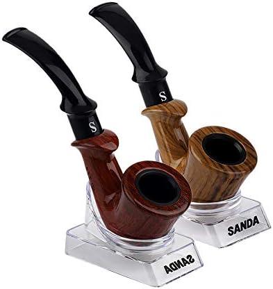 Matthew00Felix Duradera pipa Tubo de madera de humo fumar en pipa de fumar de madera 2 colores