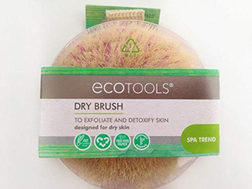 EcoTools Dry Body Brush - Inspired by SPA Dry Brushing Treatments, Use to Exfoliate and Detoxify, Improving Appearance and Leaving Skin Soft, Smooth and Glowing. - 2-PACK by EcoTools (Image #1)