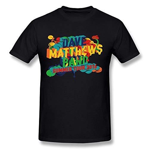 RockFeelTEE Dave Matthews Band Summer Tour 2016 Cotton O-Neck T Shirt for Mens Black XL