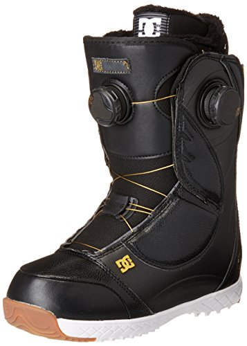 DC Mora Snowboard Boots, Size 9, Black/Gold (Boots Snowboard 9 Size)