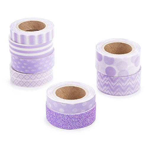 Darice Lavender Washi Tape Assortment, Purple ()