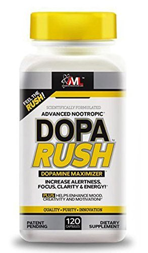 Advanced Molecular Labs Dopa Rush Dietary Supplement 120 Capsules Crush Fatigue While Simultaneously Improving Mood And Cognitive Function Providing You With Hours Of Enhanced Focus Clarity And Energy