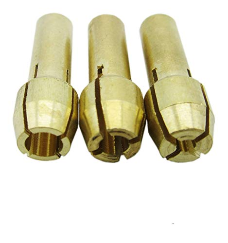 - Fevas 3PCS 1.6mm 2.3mm 3.2mm Brass Collect Drill Chuck Holder for Electric Grinding Soft Flexible Flexi Shaft Rotary Tools Die Grinder