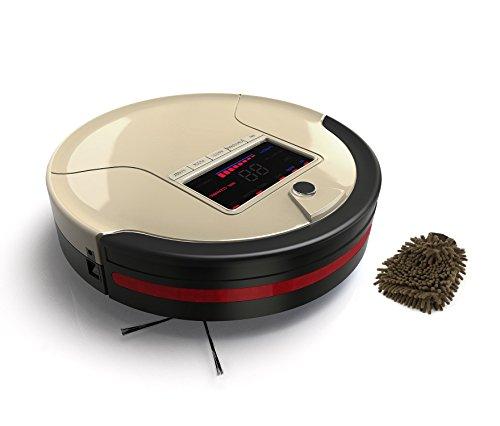 Bobsweep Pet Hair 4-in-1 Robotic Vacuum Cleaner and Mop, Champagne Robot, HEPA, Floor Sweep Vacuum (Complete Set) w/ Bonus: Premium Microfiber Cleaner Bundle (Robotic Vacuum Bobsweep compare prices)