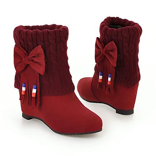 Damenstiefel Damenstiefel Warme Brüten Großformatige mit Stiefel Stiefeln Damenstiefel Stiefel KUKI Gefrostete Hohen wTqRxIaUU