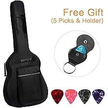 CAHAYA Guitar Bag [Upgraded Premium Version] for 40 41 42 Inch Acoustic Guitar Gig