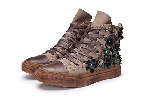Gaslinyuan Frauen Frauen Frauen Blaume Knopf Stiefel Leder Lace up Martin Ankle Schuhe (Farbe   Braun, Größe   EU 40) cdcf3f