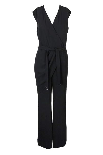 4eee5468abd Amazon.com  LAUREN RALPH LAUREN Womens Awinita Crepe Wide-Leg Jumpsuit Black  2  Clothing