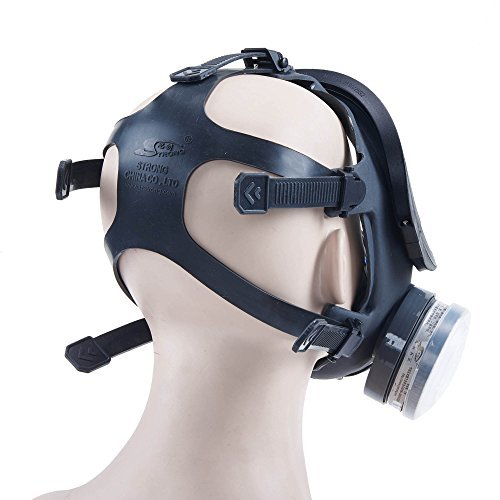 Holulo ST-M70-3 Organic Full Face Respirator Safety Mask (ST-M70-3 Mask+1 Pair 3# filter Cartridges) by Holulo (Image #4)