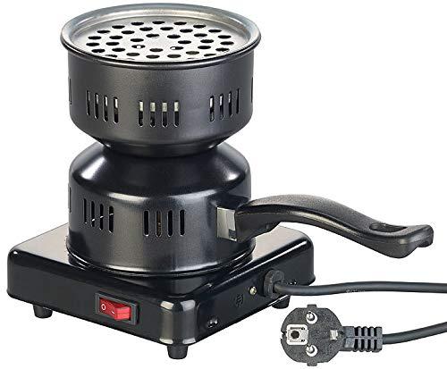 Duvence Kohlenanzünder: Elektrischer Kohle-Anzünder für Shisha, mit Tragegriff, 450 Watt (Shisha Kohlenanzünder)