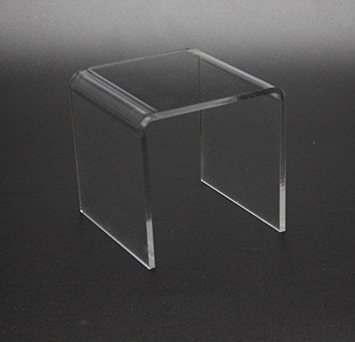 FixtureDisplays 7'' Clear Lucite Plaxiglass Display Acrylic Riser Jewelry Showcase Fixtures 16905-7INCH! by FixtureDisplays