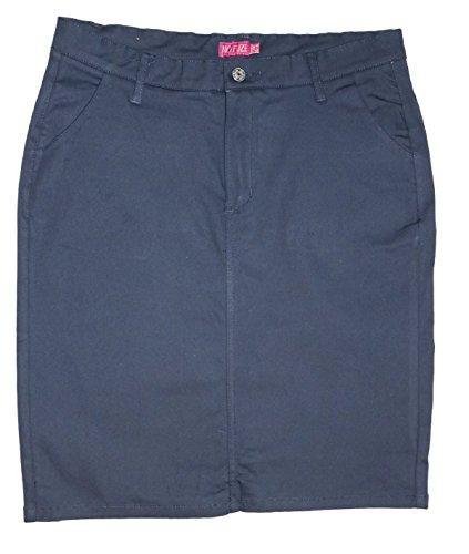 No Fuze Womens Uniform 21 inch Stretch Plus Size Twill Skirt (Run Small Please Order a Size Bigger)
