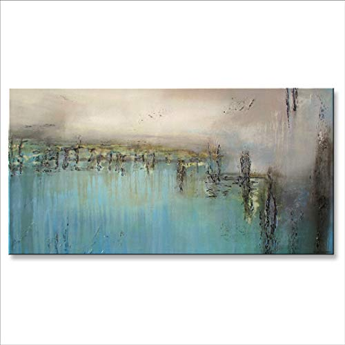 Eloise World Studio Modern, Abstract, Limited Edition, Canvas Painting, Ready to Hang 60x30 Extra Large US Artist - ELOISExxx -