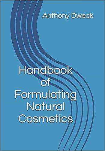 Handbook of Formulating Natural Cosmetics (Dweck Books