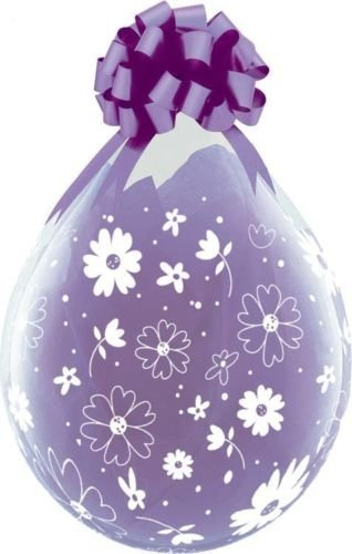 """Daisies & Dots Qualatex 18"""" Clear Balloons x 10 - Stuffing or Air Fill"""