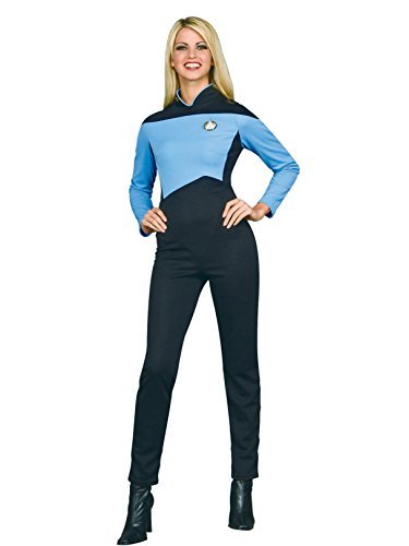 Secret Wishes Star Trek The Next Generation Woman's Deluxe Blue Jumpsuit, Adult Medium -