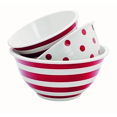 Anchor Hocking 3-Piece Decorated Melamine Mixing Bowl Set
