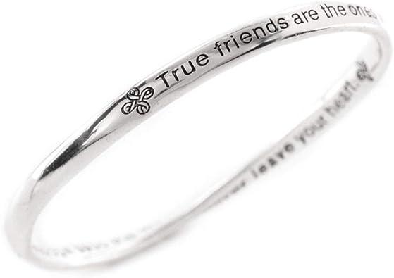 Brazalete de la amistad, en caja de regalo con mensaje en inglés: Amazon.es: Joyería