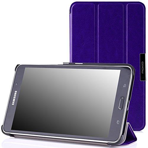 MoKo Samsung Galaxy Tab 4 7.0 Case - Slim Lightweight Smart Cover Case Stand, FM PURPLE (WILL NOT Fit Samsung Galaxy Tab 3 7.0)