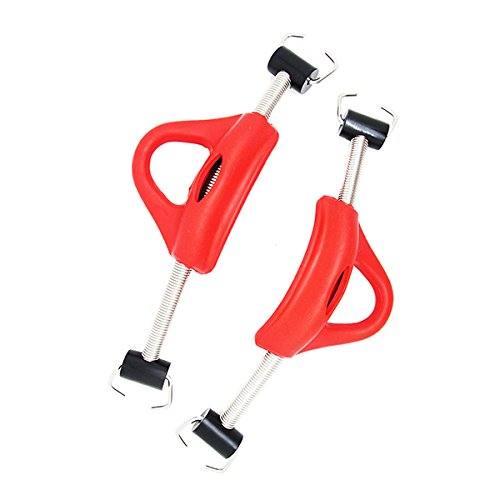 Scuba Choice Diving Stainless Steel Red Spring Fin Straps Pin Style Pair Red