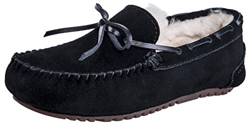 Mixin Kvinna Casual Mode Gummisula Inomhus Utomhus Slip På Läder Loafers Mockasiner Tofflor Skor Svarta