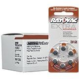 Rayovac Extra Advanced, size 312 Hearing Aid Battery (pack 60 pcs) by Rayovac Extra Advanced