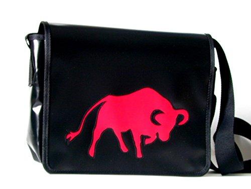 Goellerbags Schultertasche Huftiermotiv Rot Stier H 20, B 26, T 8 cm