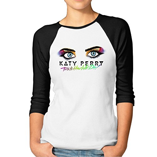 Katy Perry Rise In O Neck Athletic Baseball Jersey Homelike T Shirt (This Is Halloween Just Dance 3 Lyrics)