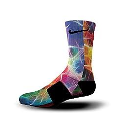 HoopSwagg Neuron Magic Custom Nike Elite Socks Medium Multi