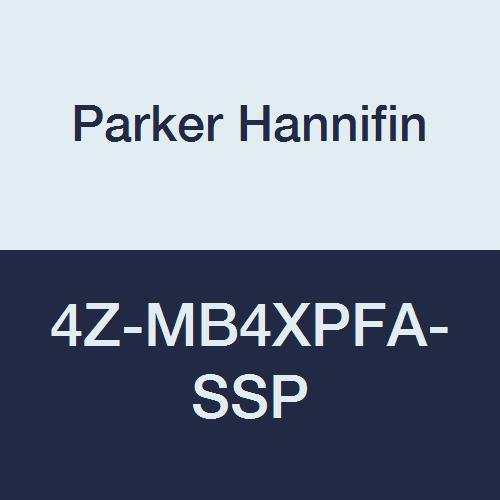 Parker Hannifin 4Z-MB4XPFA-SSP Series MB4X Series Stainless Steel 3-Way Ball Valve, Perfluoro Alkoxy Seat, PTFE Seal, 1/4'' CPI Port