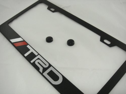 Outlet TRD Black License Plate Frame With Caps